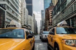 taxi, road, traffic
